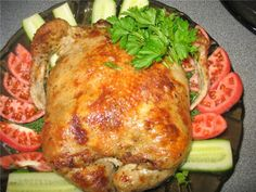 Chicken stuffed with mushrooms in the oven (Курица фаршированная грибами в духовке)