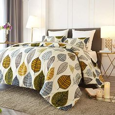 Reversible Down Alternative Microfiber Bedding Comforters Size 88 x 90 Tan Gray Plum Blossom Flower//Floral All Season Duvet and 2 Pillowshams Bed Sets for Women NANKO Queen Comforter Set 3pc