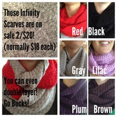 Love these infinity scarves!  Great teacher gifts. Get them at Garden of Eden Goods FB page. https://www.facebook.com/GardenofEdenGoods