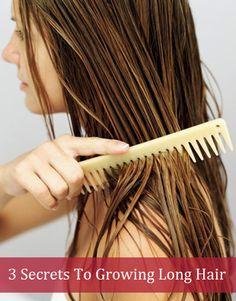 3 Secrets To Growing Long Hair