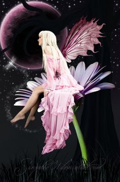 Background: [link] Moon/planet: [link] Model: [link] grass: [link] wings: [link] Ears: [link] flower: [link] Dragonfly: [link] Fairy Dust: [link] A Fairy's Night Fantasy Creatures, Mythical Creatures, Gif Kunst, Fairy Paintings, Moon Fairy, Fairies Photos, Kobold, Fairy Pictures, Beautiful Fairies
