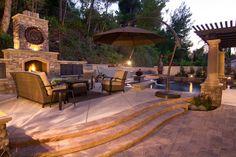 gemauerten gartenkamin bauen ideen terrasse stein | Garten ...