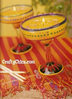 Diary of a Crafty Chica™: PROJECT: Margarita Glass Candles
