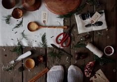 foraged and  handcrafted  decoration