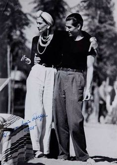 "66lanvin: ""throwabout: "" Coco Chanel & Serge Lifar ,1937 "" STILLNESS in TIME……….No.5 """