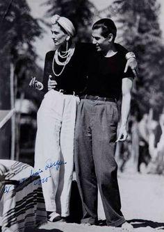 "66lanvin: ""throwabout: "" Coco Chanel & Serge Lifar ,1937 "" STILLNESS in TIME……….No.5 """