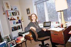 The National Book Award–winning author Joyce Carol Oates in the second-floor study of her home just outside Princeton, N.J.