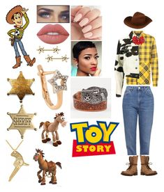 """Toy Story - Woody⭐️"" by lelaariana99 on Polyvore featuring Disney, Mostly Heard Rarely Seen, Topshop, Fendi, Steve Madden, Gigi Burris Millinery, Lime Crime and Kismet by Milka"