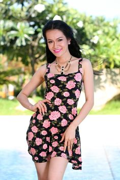 Flower dress for summer 2014 - Product code D435 -  Contact: levufashion@gmail.com, phone +84 936 156006