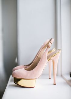 We die for these Charlotte Olympia shoes. Photography: Samuel Lippke Studios - samuellippke.com  Read More: http://www.stylemepretty.com/california-weddings/2014/06/18/traditional-downtown-los-angeles-wedding/