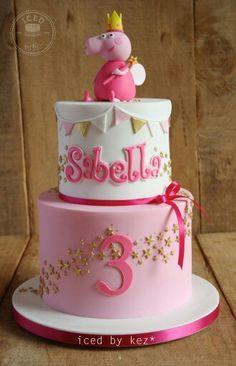 Peppa pig girly cake