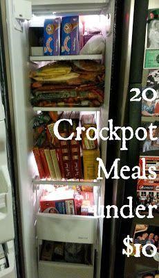Organizer by Day: 20 Crockpot meals under $10!.