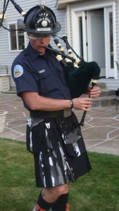 Nothing sexier than a man in a kilt! Except maybe a Firefighter in a kilt! Scotland Men, Glasgow Scotland, Edinburgh, Black Kilt, Leather Kilt, Celtic Warriors, Men In Kilts, Man Up, Celtic Designs