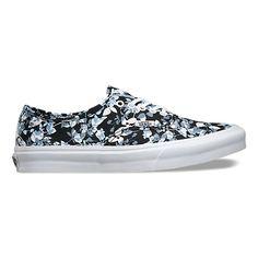 Reverse Floral Authentic Slim   Shop Womens Shoes at Vans