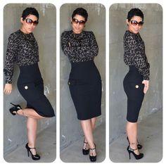 mimi g hairstyle   Mimi G. Style / #DIY Pocket Pencil Skirt & #DIY Blouse + Pattern ...