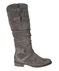 Loving this Gabor Elephant Suede Boot on #zulily! #zulilyfinds