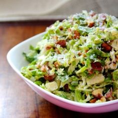 Brussels Sprout Salad.  If only my mother would let me try this....she hates brussel sprouts.