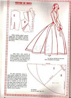 Super diy wedding dress patterns how to make sew ideas Skirt Patterns Sewing, Barbie Patterns, Costume Patterns, Doll Clothes Patterns, Sewing Clothes, Clothing Patterns, Diy Wedding Dress, Wedding Dress Patterns, Vintage Dress Patterns