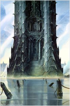 Orthanc Destroyed by John Howe