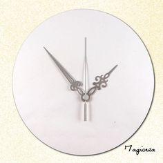 lot  3 aiguilles d' horloge baroques argentées  trotteuse argentée