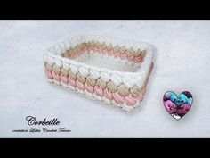 "Corbeille Carré Crochet Facile ""Lidia Crochet Tricot"" - YouTube Lidia Crochet Tricot, Crochet Accessories, Heart Ring, Kids, Crafts, Craft Ideas, Youtube, Tela, Trapillo"