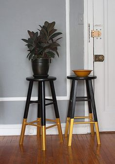 painted/dipped stools.