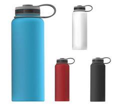 ASOBU THE MIGHTY FLASK WHY bring unsafe and bulky glass bottles to the house party, beach or tailgate event, when you can show up with this safe, elegant, 40 ounce stainless steel mighty flask storage bottle / growler.  #Healthy_Water_Bottles #Water_Bottles #Bottles #Flask #Storage_Bottles