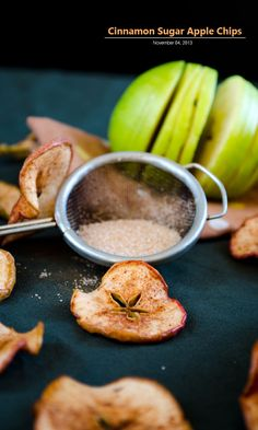 Cinnamon sugar apple crisps. I can't believe it's that easy. I hope it turns out edible ! lol