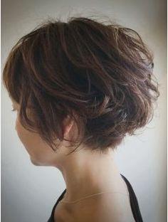 《kubu hair》大人ゆるふわひし形ショートボブデジタルパーマ