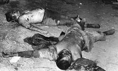 Cuerpos sin vida de José Smith (izquierda) y Miguel Cabañas