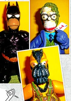 Batman - Joker - Bane Homer Simpson Parodies (from Mexico). I have 2 sets, I for bidding and 1 for myself XP