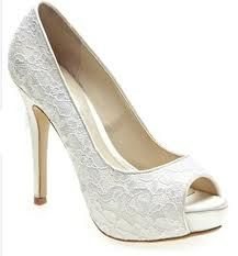 ivory lace wedding shoe - Google Search
