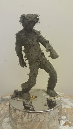 cement and fibreglass sculpture, small and expressive
