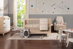 Babyletto Hudson Collection in Washed Natural, 3-in-1 Convertible Crib with Toddler Bed Conversion Kit - $379, Changer Dresser - $399