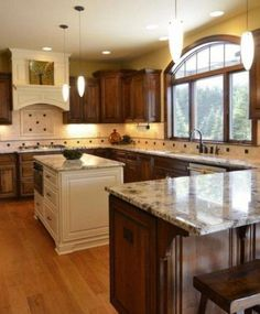 10 Knowing Cool Ideas: Kitchen Remodel Awesome kitchen remodel must haves awesome.Modern Kitchen Remodel Before And After galley kitchen remodel ideas.Modern Kitchen Remodel Before And After. Kitchen Layout U Shaped, Small L Shaped Kitchens, Kitchen Layouts With Island, L Shaped Island Kitchen, Kitchen Ikea, New Kitchen Cabinets, Kitchen Redo, Kitchen Backsplash, Ranch Kitchen
