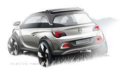Opel Adam Rocks Concept Design Sketch