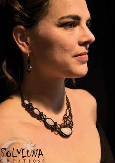 Macrame Necklace, Macrame Jewelry, Micro Macramé, Tatting, Creations, Chain, Bracelets, Jewellery, Fashion