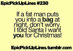 Friday Fail: 5 Pickup Lines Santa Wouldn't Put on Any List.