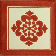 Traditional Mexican Tile - Anita Con Marco Terra Cota – Mexican Tile Designs
