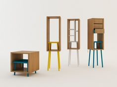 Mueble auxiliar composable de madera OBI Colección 2012 by Valsecchi 1918 | diseño Nicola De Ponti, Studio Anzalone e Bistacchi