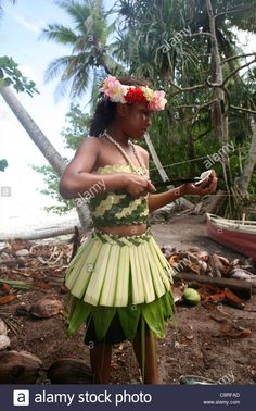 Girl On Tuvalu, Island In The Pacific. (mr Stock Photo, Royalty Free Image: 39854933 - Alamy