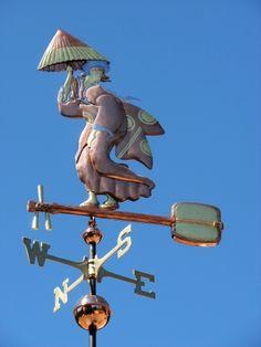 Geisha Weathervane with Shamisen by West Coast Weather Vanes