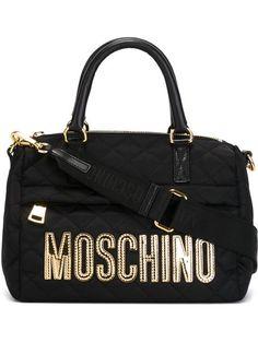 Moschino Bolsa Matelassê Com Logo - Stefania Mode - Farfetch.com