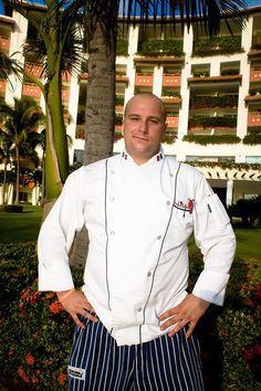Executive Chef Claudio Hotter from Grand Velas Riviera Nayarit Executive Chef, Puerto Vallarta, Chef Jackets, Restaurants, Restaurant, Diners