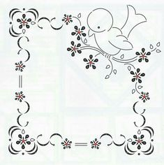 Marcos 1st Birthday Pictures, Parchment Craft, Hand Embroidery Patterns, Border Design, Doodle Drawings, Craft Patterns, String Art, Baby Sewing, Coloring Pages