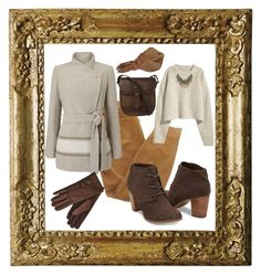 """caramelita"" by saint-germain on Polyvore featuring Current/Elliott, Jacques Vert, Giorgio Armani, DUBARRY and Lucky Brand"