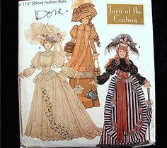 Historical Gowns for Barbie Doll Clothes Pattern by PatternsFromThePast on Etsy