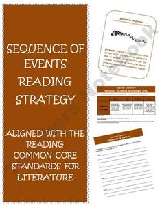Sequence of Events Common Core Reading Resources product from Wise-Guys on TeachersNotebook.com