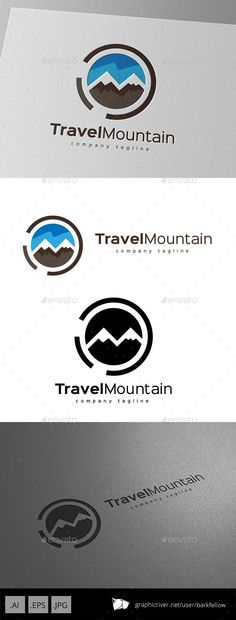 Travel Mountain - Logo Design Template Vector #logotype Download it here: http://graphicriver.net/item/travel-mountain-logo-design-/11109630?s_rank=1000?ref=nesto