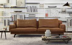 Sofá de esquina / moderno / de cuero / de metal - MUSTIQUE by Gordon Guillaumier  - LEMA Home